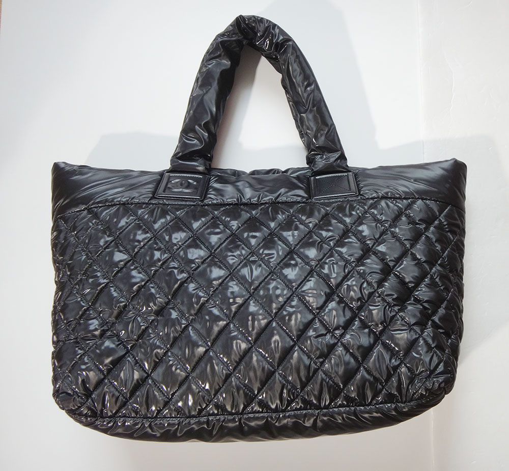 fed52ad87239 Chanel Coco Cocoon Tote Bag MM nylon quilted handbag (N585