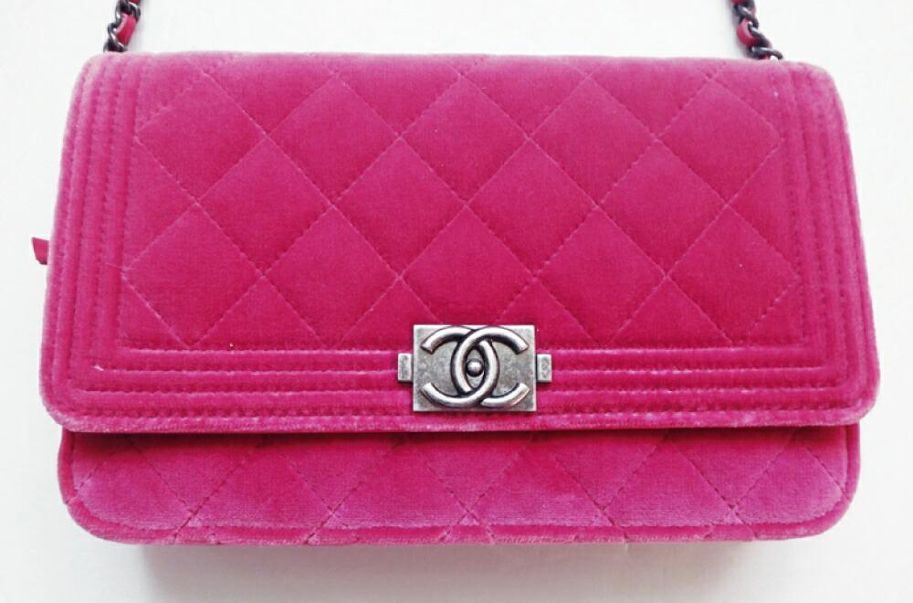 95323ff7e337 BOY CHANEL 超美品 シャネル バッグ ボーイ シャネルバッグ マトラッセ チェーンショルダー レディース ベロア ピンク