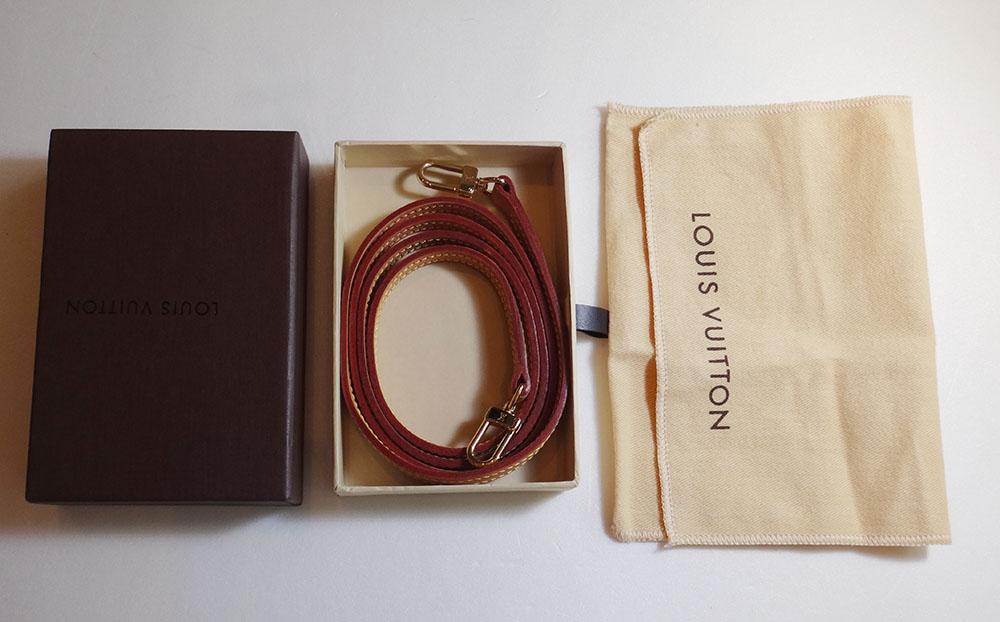 美品 ルイ・ヴィトン ショルダーストラップ ヌメ革 ナチュラル 約120cm Louis Vuitton【中古】