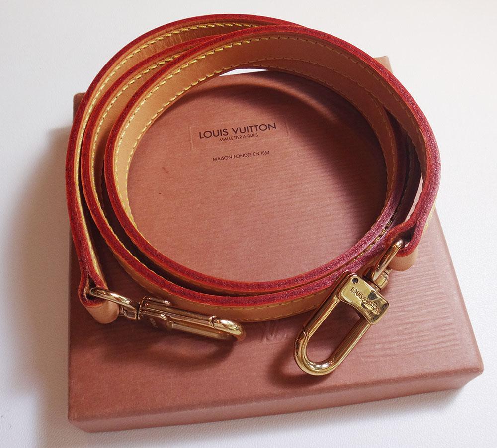 美品 Louis Vuitton ルイ・ヴィトン ショルダーストラップ ヌメ革 ナチュラル 約120cm【中古】
