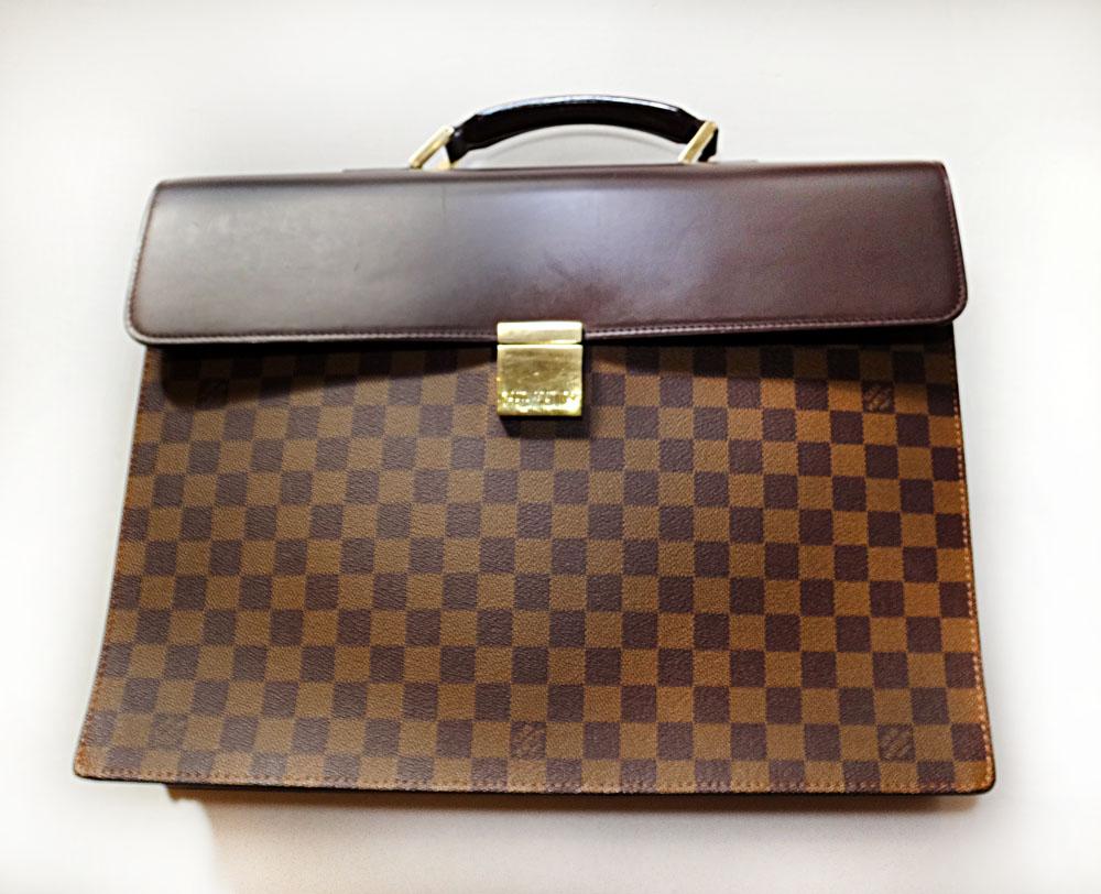 Louis Vuitton ルイ・ヴィトン ダミエ アルトナGM ビジネスバッグ メンズ ハンド N53312 ブランド BAG 本物 プレゼント MI0035【中古】lv81-5227◆◆