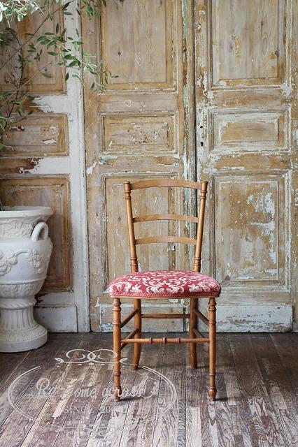 フランスアンティーク ナポレオンチェア 椅子 Q88-1