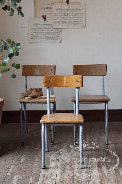 イギリスの古い 小振りなスクールチェア・椅子 N308