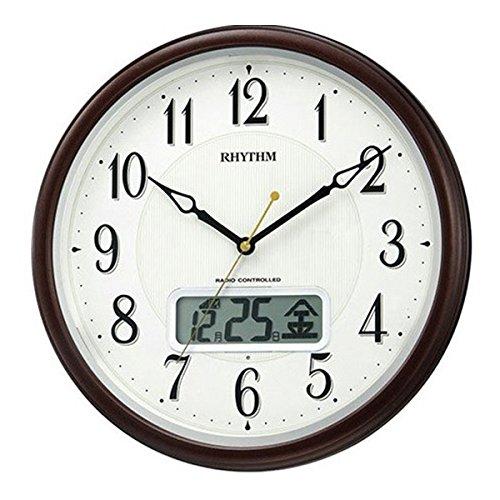【送料無料】リズム時計(RHYTHM) 電波掛け時計 ピュアカレンダーM03SR 茶色 4FYA03SR06 ■送料無料※北海道・九州・沖縄・離島は別途送料(1080円~2160円)