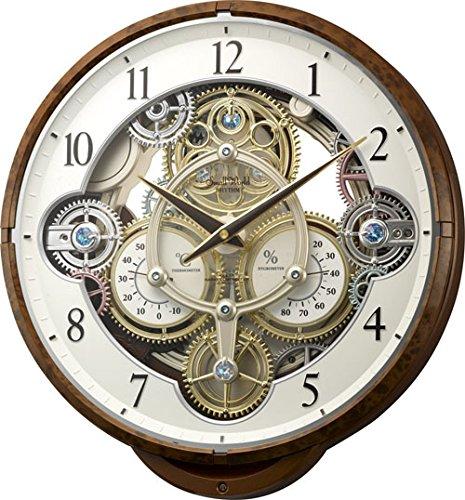 【送料無料】Small World(リズム時計) 機械式時計をイメージした《ギアからくり時計》 プラスチック枠/木目調仕上げ 4MN515RH23 ■送料無料※北海道・九州・沖縄・離島は別途送料(1080円~2160円)