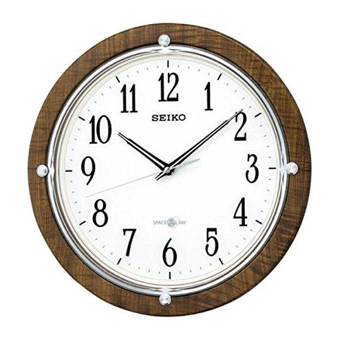 【送料無料】SEIKO CLOCK (セイコークロック) 掛け時計 衛星電波 アナログ SPACE LINK(スペースリンク) 茶木目模様 GP212B ■送料無料※北海道・九州・沖縄・離島は別途送料(1080円~2160円)