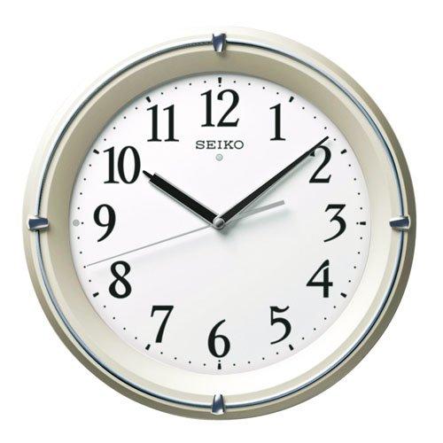 【送料無料】SEIKO CLOCK (セイコークロック) 掛け時計 自動点灯 電波 アナログ 夜でも見える 薄金色パール KX381S ■送料無料※北海道・九州・沖縄・離島は別途送料(1080円~2160円)