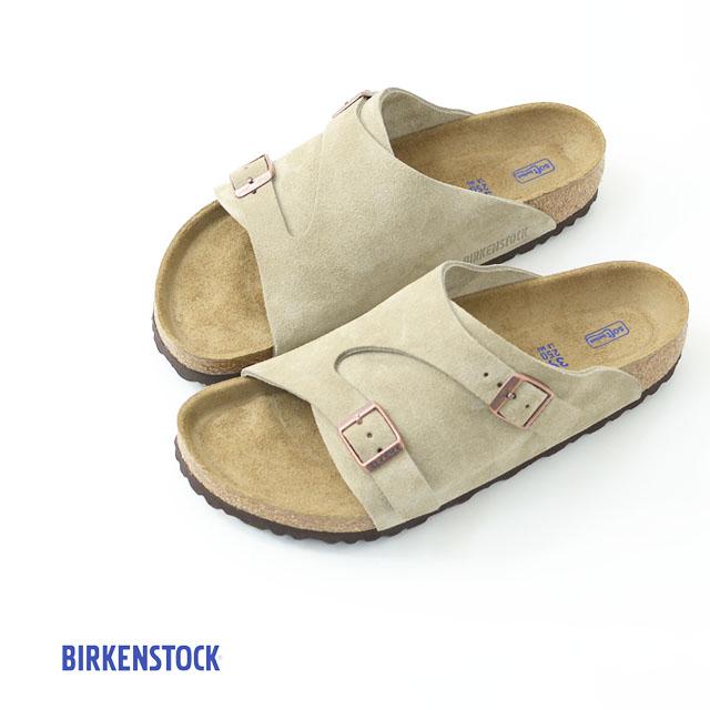 BIRKENSTOCK [ビルケンシュトック正規販売店] ZURICH SOFT FOOTBED TAUPE [GC1009532] 本革 ベロア【ワイズ レギュラータイプ】チューリッヒ タープ スウェード MEN'S