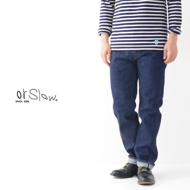 orslow[オアスロウ] 107 IVY FIT JEANS [01-0107-81] ONE WASH アイビーフィットジーンズ・デニム ワンウォッシュ MEN'S