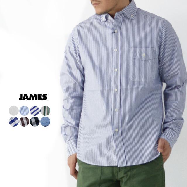 JAMES [ジェームス] STANDARD SHIRT 【Pujol】[JS101] スタンダードシャツ・プジョル・長袖シャツ・メンズ・男性用・紳士・(DELICIOUS/STUDOI ORIBE)MEN'S