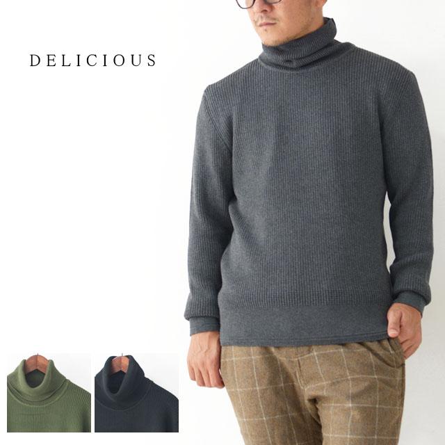 DELICIOUS [デリシャス] Cotton Turtleneck Sweater [DN4135] コットンタートルネックセーター・コットンニット・五泉ニットMEN'S