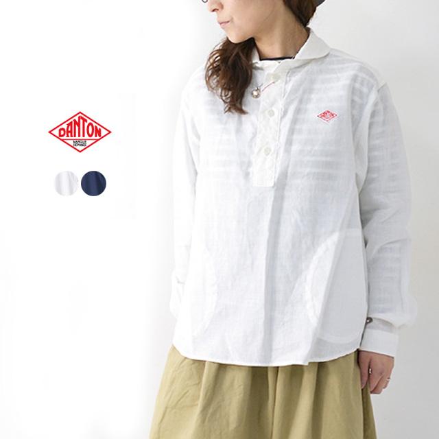 【10%OFF クーポン発行中】DANTON [ダントン] L/S LINEN CLOTH SHIRTS [JD-3564KLS] 長袖クロスシャツ・リネンシャツ・長袖シャツ・無地・レディース・女性用・婦人服・LADY'S