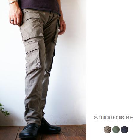 ◯SALE 20%OFF セール◯STUDIO ORIBE [スタジオオリベ] 8 POCKET PANTS [エイトポケットパンツ]ストレッチミリタリーパンツ/カーゴパンツ MEN'S