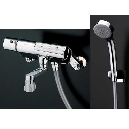 TOTO 浴室蛇口 TMN40STE3 サーモスタットシャワー金具 壁付き タッチスイッチ エアインめっき スパウト68mm