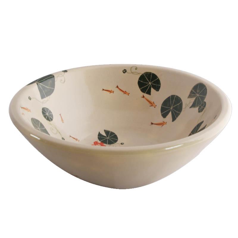 絵付け 信楽焼 手洗い鉢 RSN-915 陶器製) (和風