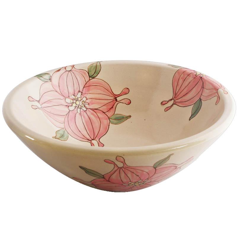 手洗い鉢 信楽焼 (和風 陶器製) RSN-916 絵付け
