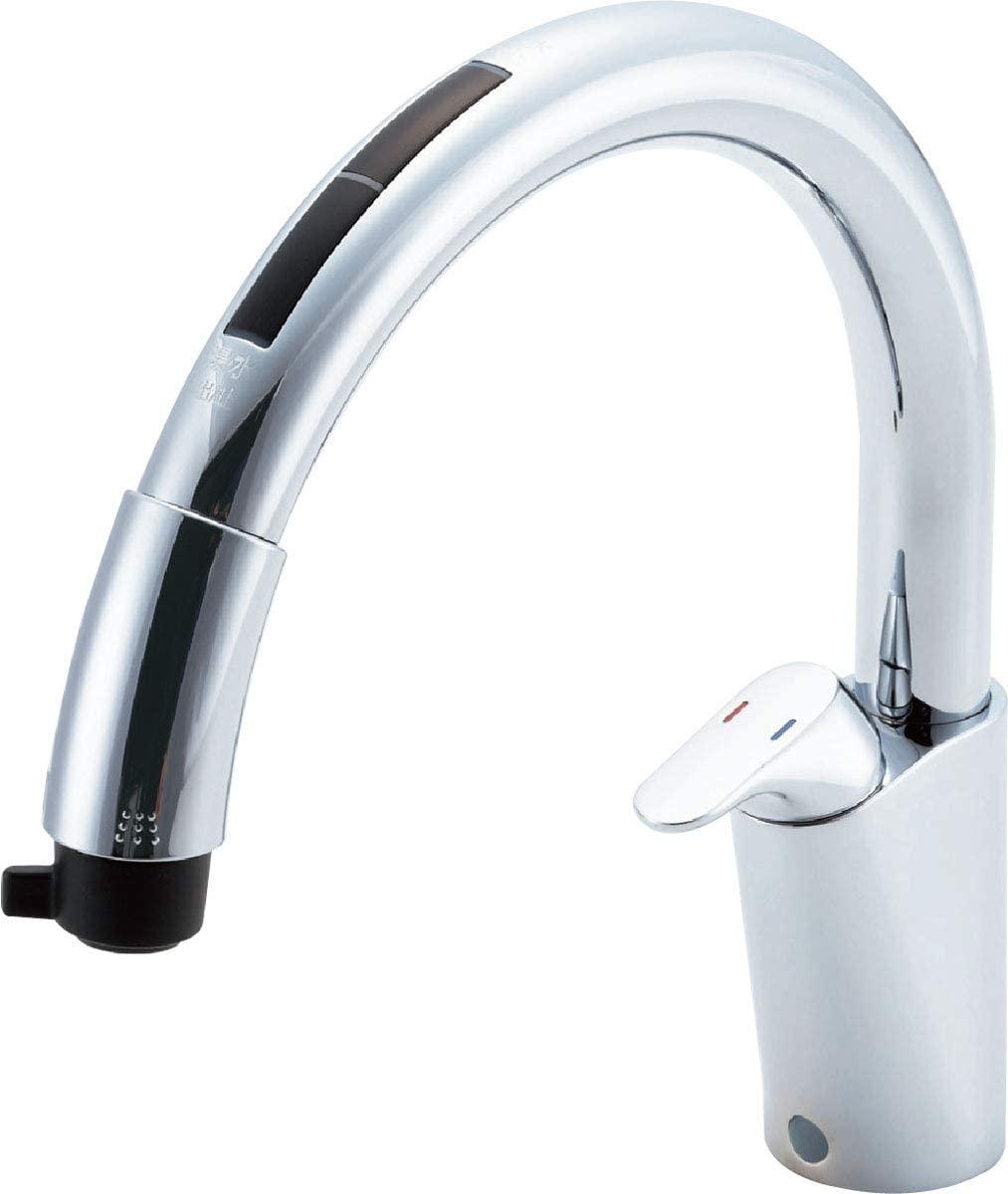 浄水器ビルトイン型 ナビッシュ 送料無料 キッチン用蛇口 [JF-NB464SX-JW]LIXIL(リクシル) タッチレス キッチン水栓 ホース引出式 ハンズフリー INAX(イナックス) 乾電池式B6タイプ