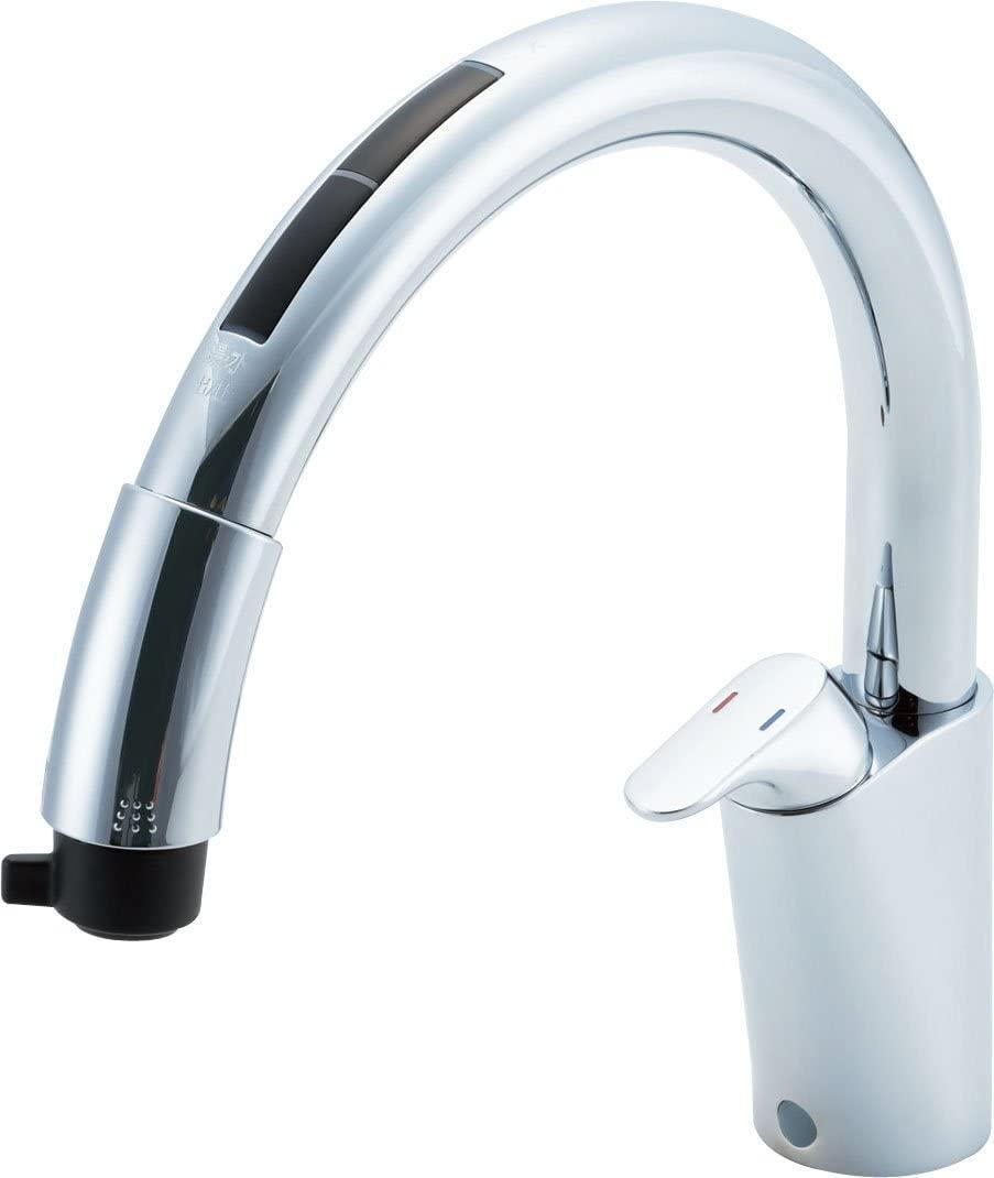 タッチレス ナビッシュ [JF-NB466SXU-JW]LIXIL(リクシル) キッチン用蛇口 キッチン水栓 INAX(イナックス) B6タイプ ハンズフリー 浄水器ビルトイン型 ホース引出式 送料無料
