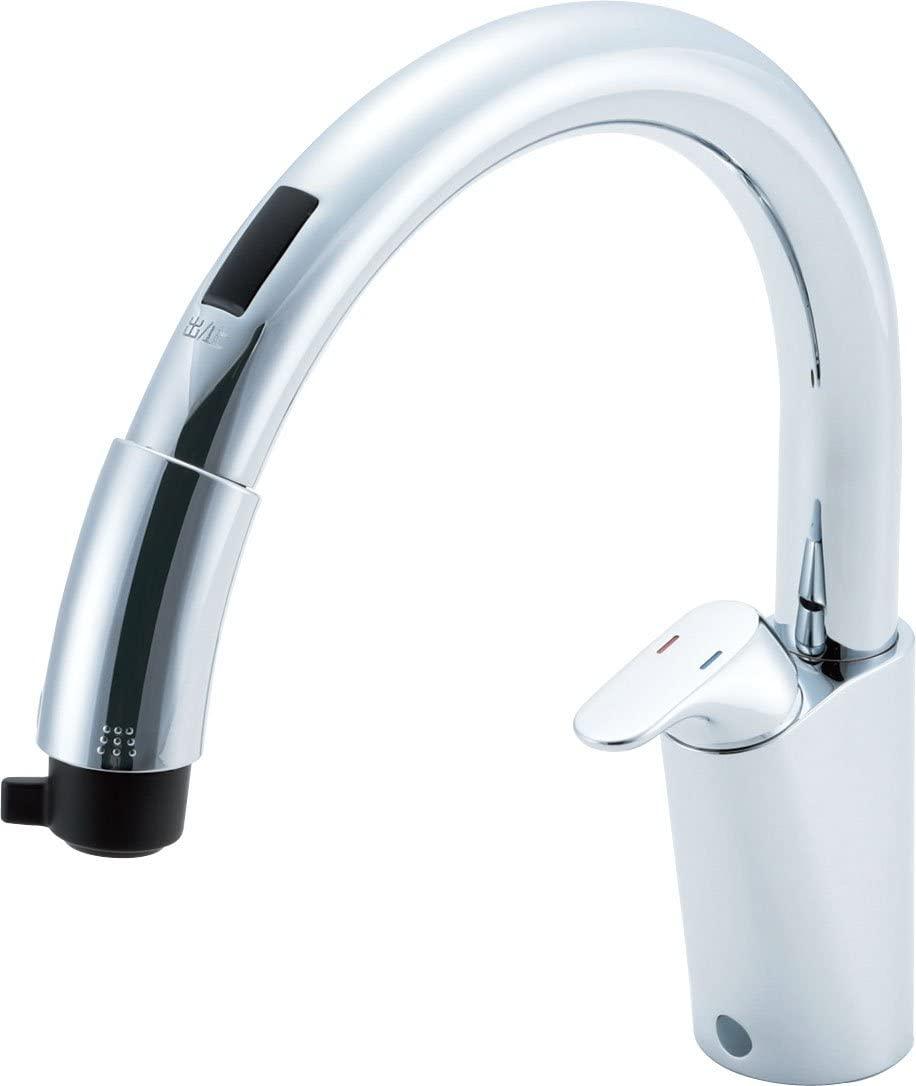 [SF-NB451SXU]LIXIL(リクシル) INAX(イナックス) タッチレス キッチン水栓 ナビッシュ キッチン用蛇口 B5タイプ ホース引出式 ハンズフリー 送料無料