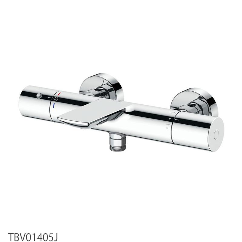 TOTO 浴室蛇口 TBV01405J 壁付サーモスタット混合水栓<スパウト82mm>[心々150mm]本体のみ