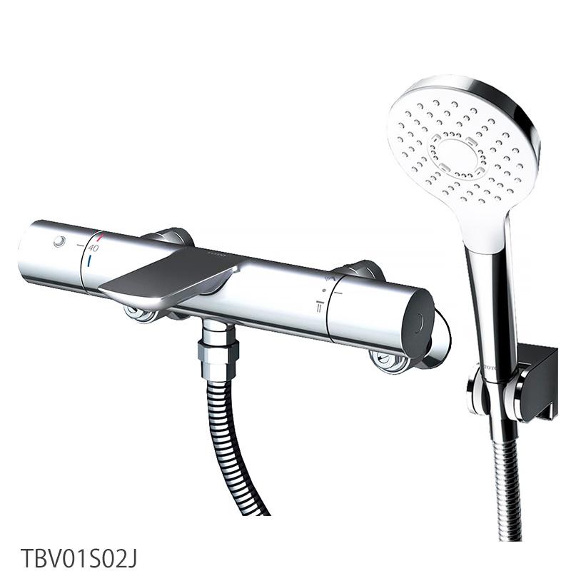 浴室蛇口 TOTO 壁付サーモスタット混合水栓<スパウト82mm> TBV01S02J