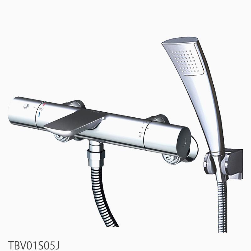 TOTO 壁付サーモスタット混合水栓<スパウト82mm> TBV01S05J 浴室蛇口