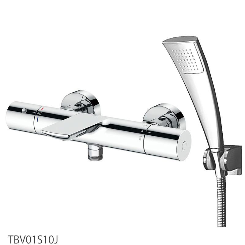 TOTO 壁付サーモスタット混合水栓<スパウト82mm>[心々150mm] TBV01S10J 浴室蛇口