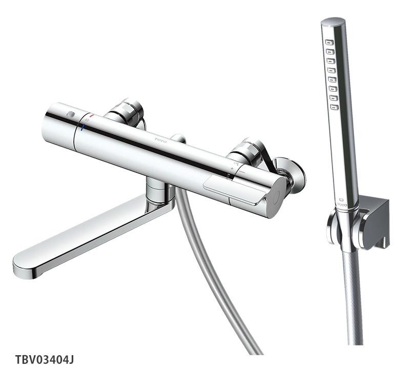 TBV03405J TOTO 浴室蛇口 GGシリーズ 壁付サーモスタット混合水栓<スパウト170mm>レバーハンドル