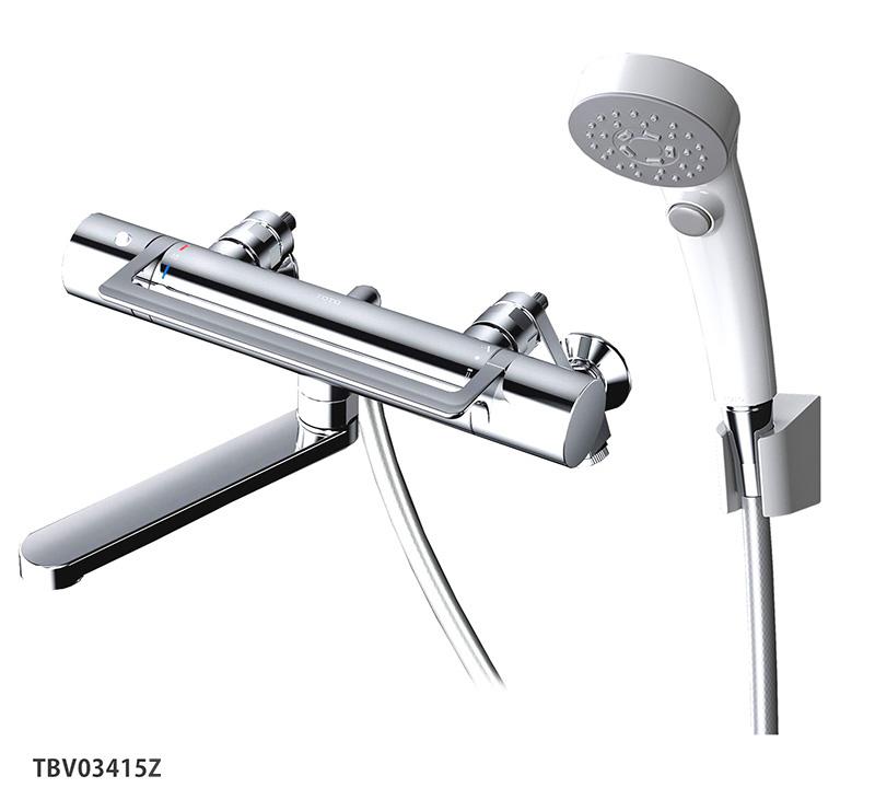 GGシリーズ TOTO 壁付サーモスタット混合水栓<スパウト170mm>アーチハンドル 浴室蛇口 TBV03415Z 寒冷地仕様