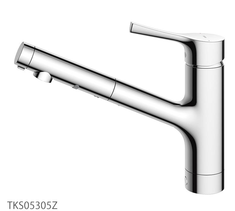 TOTO キッチン蛇口 TKS05305Z GGシリーズ 台付シングル混合水栓(ハンドシャワー・吐水切替タイプ)寒冷地仕様