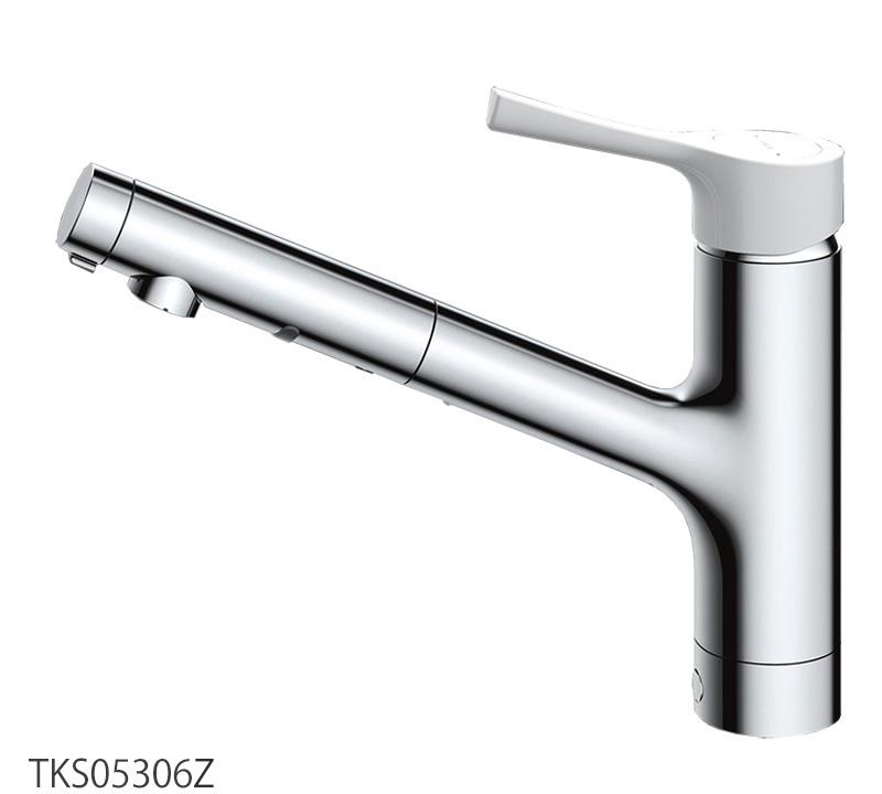 台付シングル混合水栓(ハンドシャワー・吐水切替タイプ)寒冷地仕様 GGシリーズ TOTO TKS05306Z キッチン蛇口