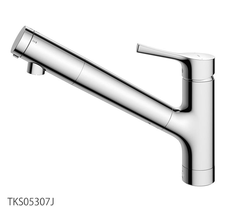 TOTO TKS05307J 浄水器兼用台付シングル混合水栓(吐水切替タイプ) キッチン蛇口 GGシリーズ