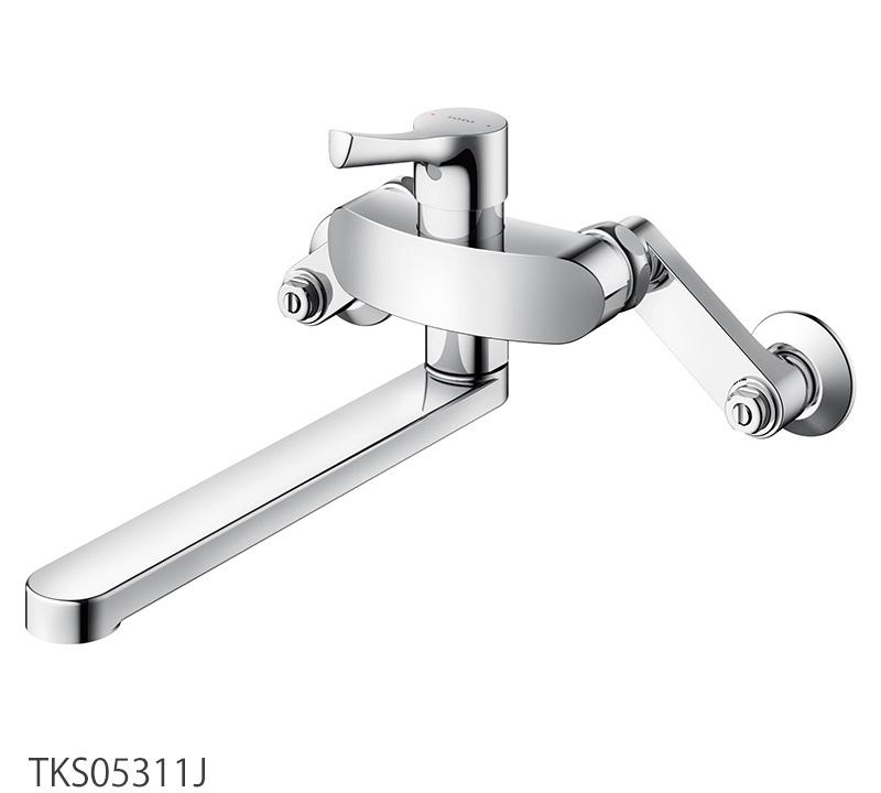 壁付シングル混合水栓 TOTO TKS05311J キッチン蛇口 GGシリーズ