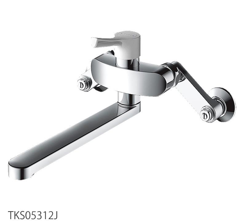 TOTO GGシリーズ 壁付シングル混合水栓 キッチン蛇口 TKS05312J