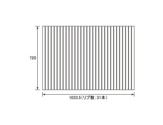 パナソニック Panasonic(松下電工 ナショナル) 風呂ふた(ふろふた フロフタ) 巻きふた GA111SC (GA111Sの代替品) 720×1033.5mm (リブ数:31本)