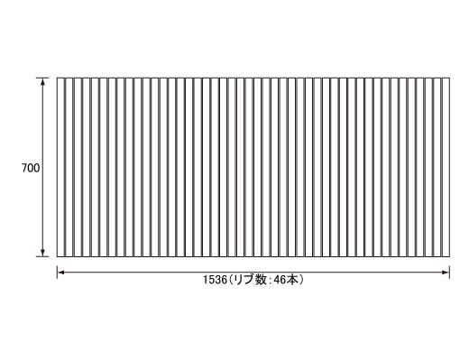 パナソニック Panasonic(松下電工 ナショナル) 風呂ふた(ふろふた フロフタ) 巻きふた GA160 700×1536mm (リブ数:46本)