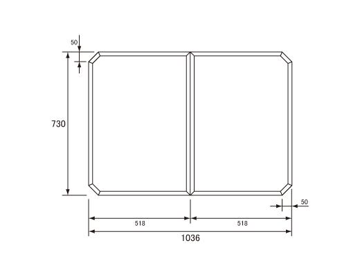 パナソニック Panasonic(松下電工 ナショナル) 風呂ふた(ふろふた フロフタ) 組みふた GZ945C (GZ945の代替品) 730×1036mm