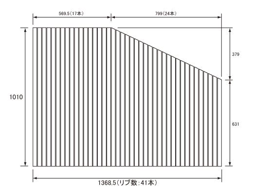 パナソニック Panasonic(松下電工 ナショナル) 風呂ふた(ふろふた フロフタ) 巻きふた RL91041RC (RL91041Rの代替品) 1010×1368.5mm (リブ数:41本)