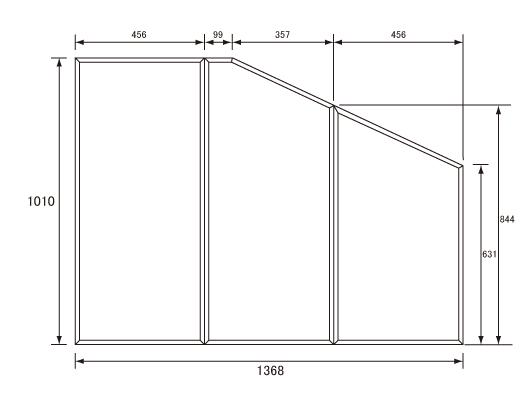 パナソニック Panasonic(松下電工 ナショナル) 風呂ふた(ふろふた フロフタ) 組みふた RL91041SC (旧RL91041S代替品) 1010×1368mm