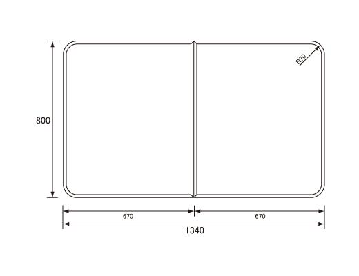 パナソニック Panasonic(松下電工 ナショナル) 風呂ふた(ふろふた フロフタ) 組みふた RL91051SC (RL91051S・VAB91051Sの代替品) 800×1340mm