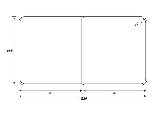 パナソニック Panasonic(松下電工 ナショナル) 風呂ふた(ふろふた フロフタ) 組みふた RL91058SC (RL91058Sの代替品) 825×1536mm