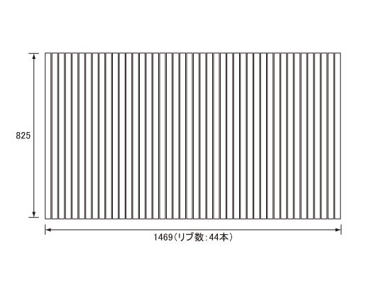 パナソニック Panasonic(松下電工 ナショナル) 風呂ふた(ふろふた フロフタ) 巻きふた RL91059C (RL91059の代替品) 825×1469mm (リブ数:44本)