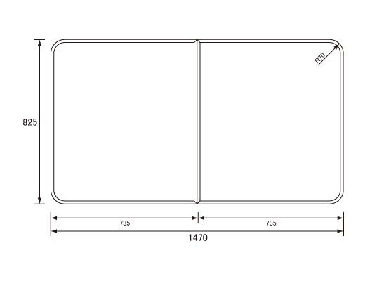 パナソニック Panasonic(松下電工 ナショナル) 風呂ふた(ふろふた フロフタ) 組みふた RL91059SC (RL91059Sの代替品) 825×1470mm