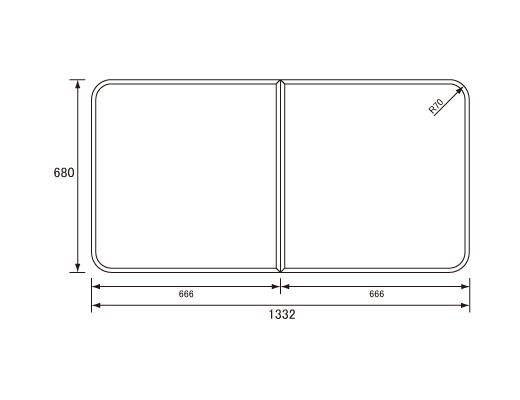 パナソニック Panasonic(松下電工 ナショナル) 風呂ふた(ふろふた フロフタ) 組みふた RL9141AKC 680×1332mm 旭化成向け