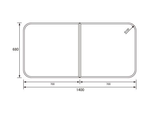 パナソニック Panasonic(松下電工 ナショナル) 風呂ふた(ふろふた フロフタ) 組みふた RL9161ACC (RL9161ACの代替品) 680×1400mm