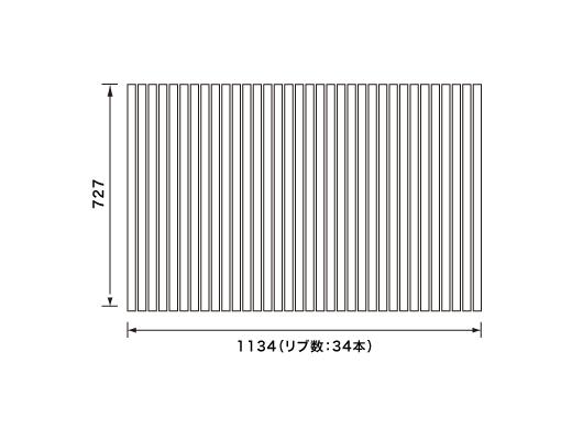 パナソニック Panasonic(松下電工 ナショナル) 風呂ふた(ふろふた フロフタ) 巻きふた RLA71MN11 1134×727mm (リブ数:34本)