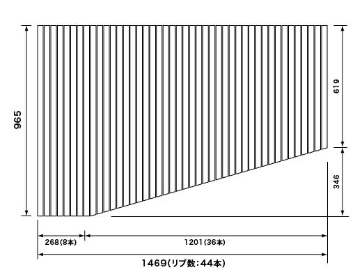 パナソニック Panasonic(松下電工 ナショナル) 風呂ふた(ふろふた フロフタ) 巻きふた RLFK76MF1KKLC (RLFK76MF1KKLの代替品) 965×1469mm (リブ数:44本)