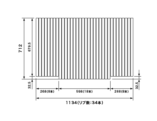 パナソニック Panasonic(松下電工 ナショナル) 風呂ふた(ふろふた フロフタ) 巻きふた RLSX71MF7K1C (RLSX71MF7K1の代替品) 712×1134mm (リブ数:34本)