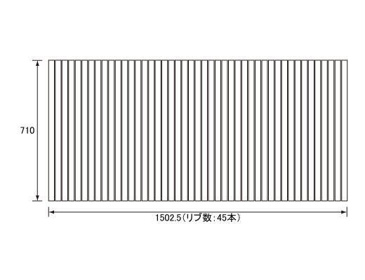 パナソニック Panasonic(松下電工 ナショナル) 風呂ふた(ふろふた フロフタ) 巻きふた RLSX74MF7K1C (RLSX74MF7K1の代替品) 710×1502.5mm (リブ数:45本)
