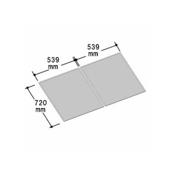 LIXIL INAX 風呂組フタ 幅539×奥行720mm×2枚組:YFK-1175B(13) (風呂ふた、フロふた、風呂蓋)